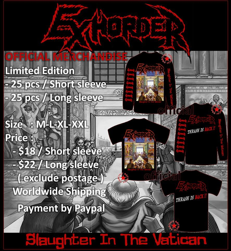 "Image of EXHORDER ""Slaughter In The Vatican"" 1990"
