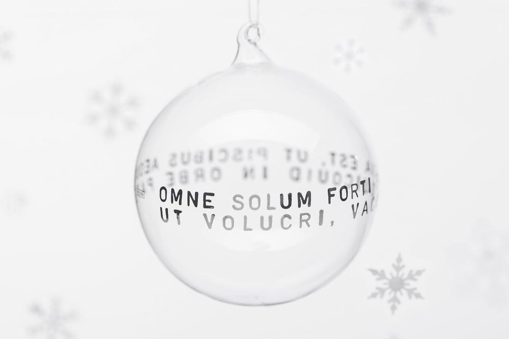 Image of VERBA 11cm Christmas tree ball with platinum inscription