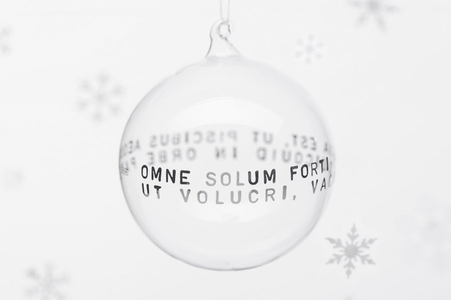 Image of VERBA 11cm Christmas tree ball with platinum inscription