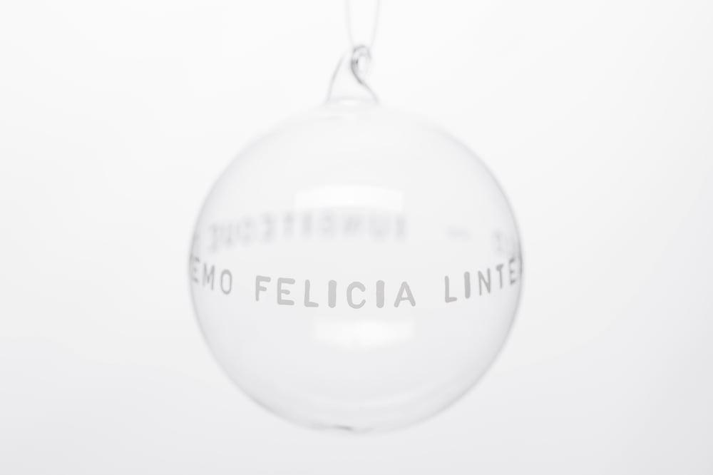 Image of VERBA 10cm Christmas tree ball with white inscription