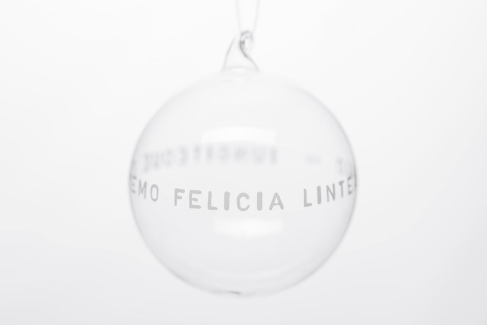 Image of VERBA 10cm Christmas tree ball with white inscription