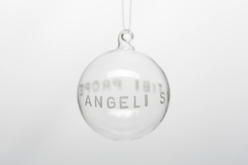 Image of VERBA 7cm Christmas tree ball with white inscription