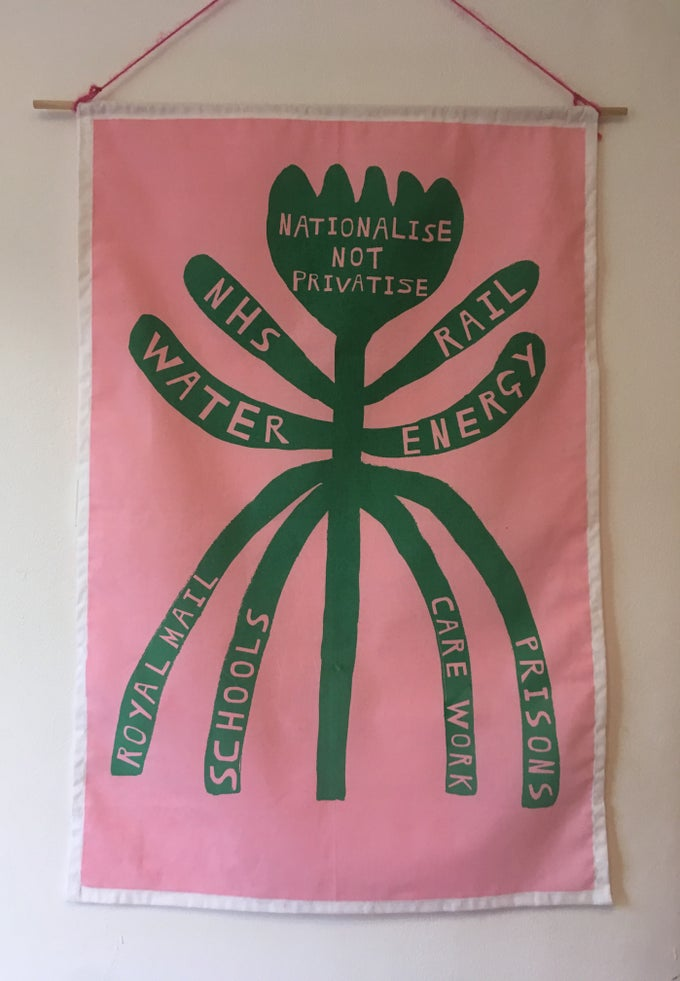 Image of Nationalise Not Privatise Fabric Print