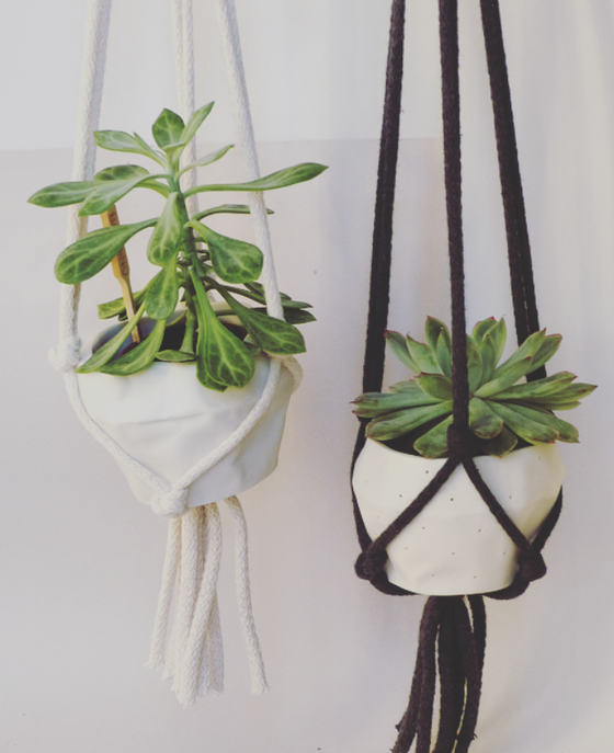 Image of Potkin with Macrame Hanger