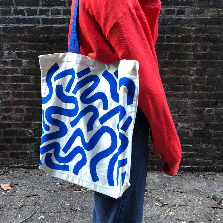 Image of Tote Bag (Blue)