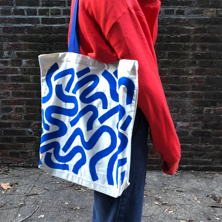 Image of Tote Bag (Blue)