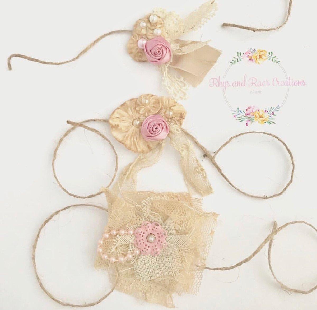 Image of Set Of 3 Newborn Baby Tieback Headbands