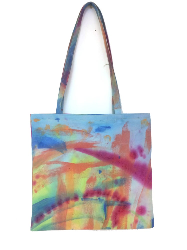 Image of KMAdotcom Hand painted Tote Bag by George Thompson and Laura Aldridge