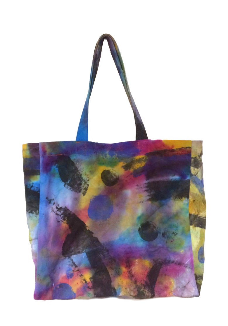 Image of KMAdotcom Hand Painted Shopper Bag