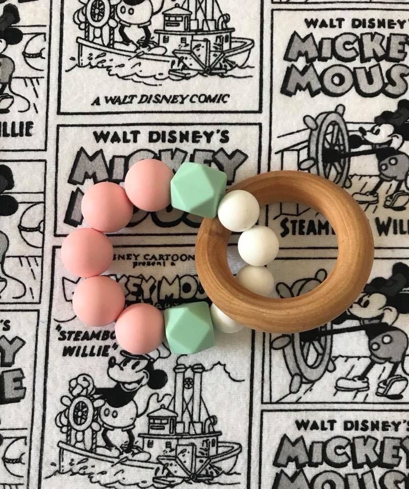 Image of Wood and Silicone Teether Ring