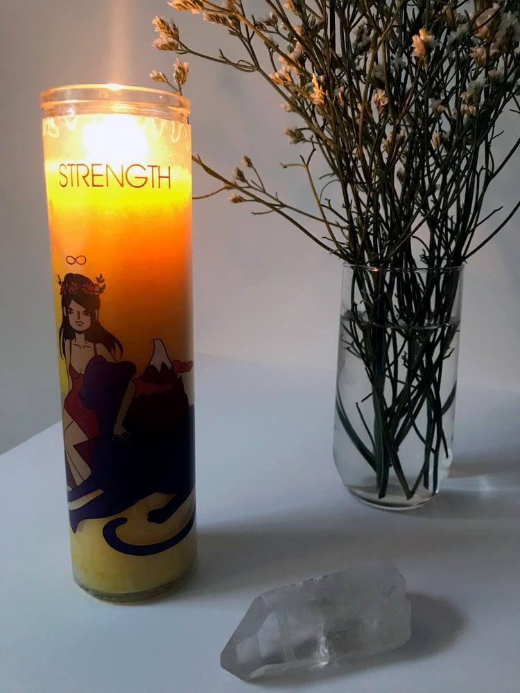 Image of STRENGTH Tarot Candle