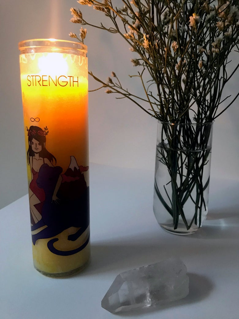 Image of STRENGTH Tarot Candle