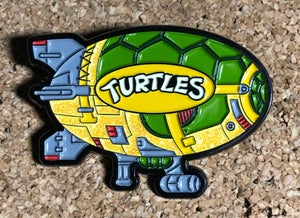 "Image of 2"" Turtle Blimp Soft Enamel Pin (Glitter)"