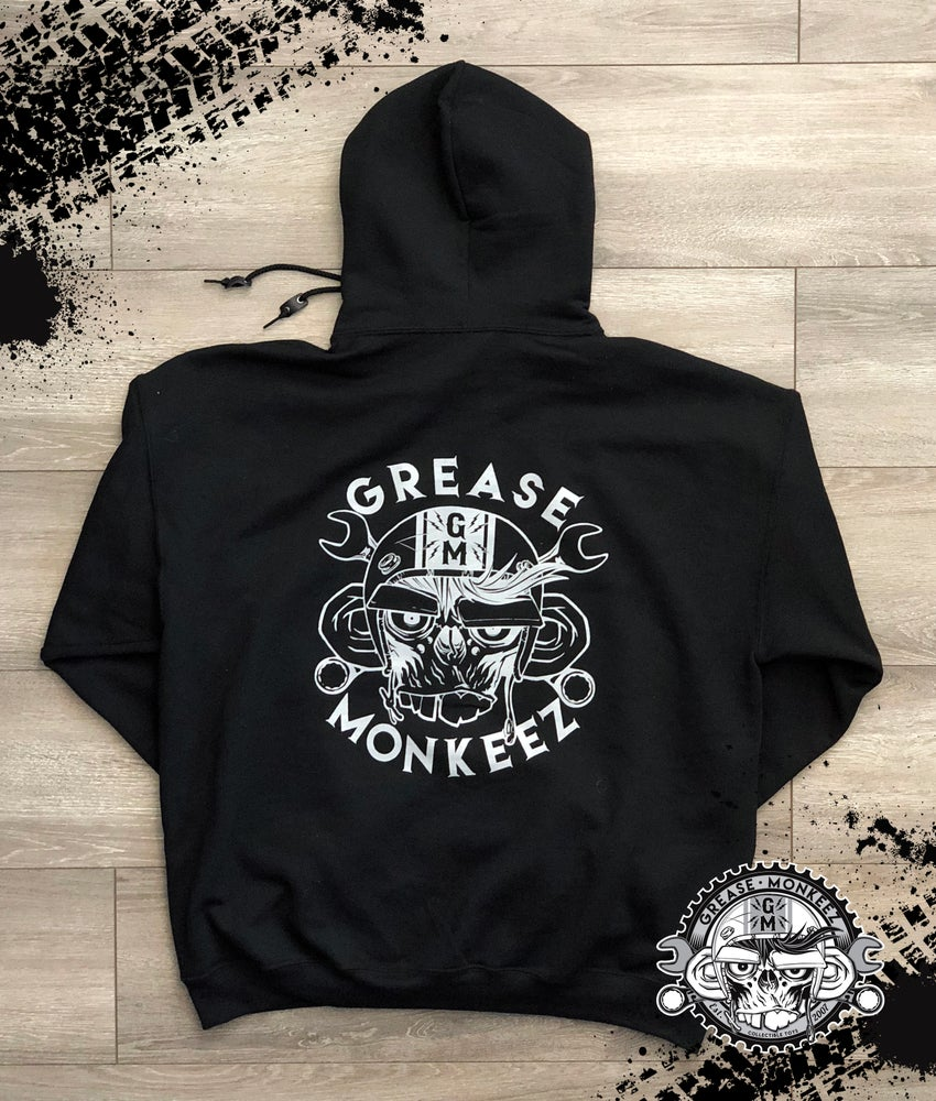 Image of Grease Monkeez - Black Logo Hoodie