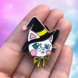 Image of Kawaii Witchy Kitties Hard Enamel Pin