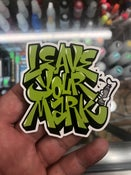 "Image of Leave Your Mark 3"" Laminated Di-Cut Sticker"