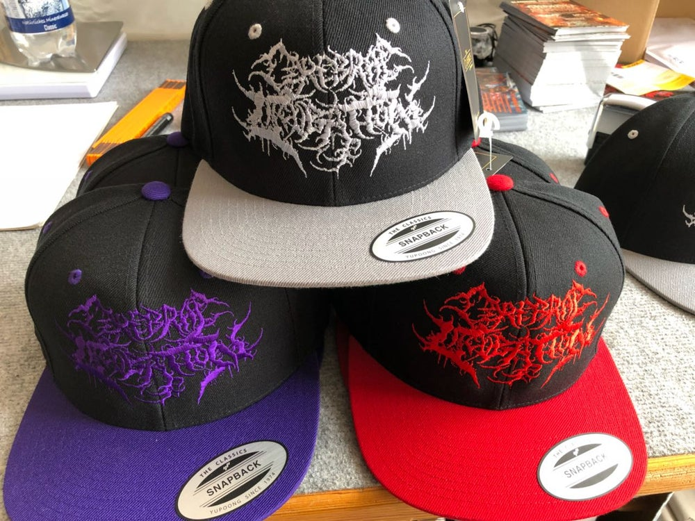 Image of CEREBRAL INCUBATION Snapback (Red or Grey or Purple)
