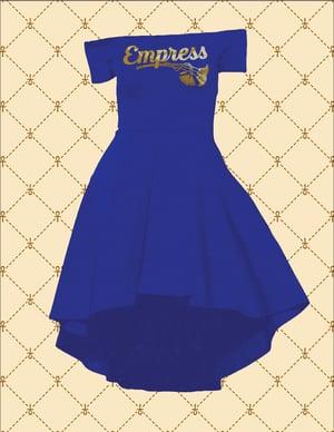 Image of EMPRESS OFF SHOULDER HI/LO COCKTAIL DRESS