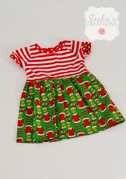 Image of Red Grinch Dress