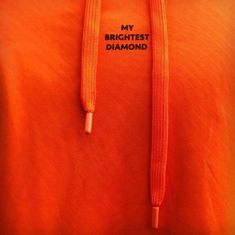 Image of Orange Hoodie with MBD sleeve