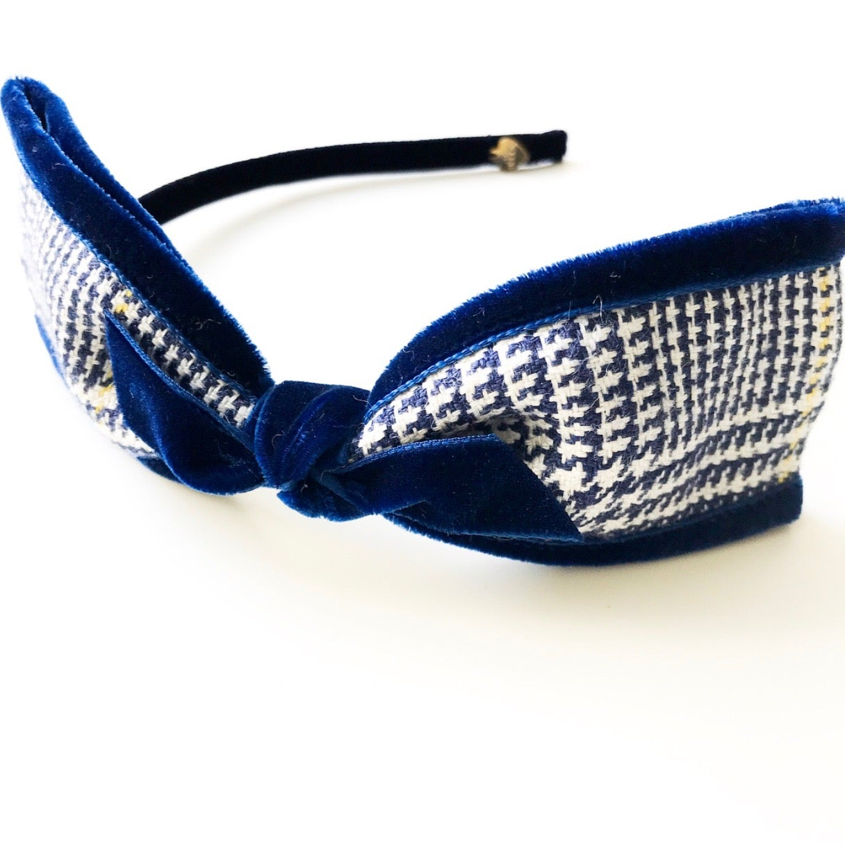 Image of PLAID SIDE BOW HEADBAND