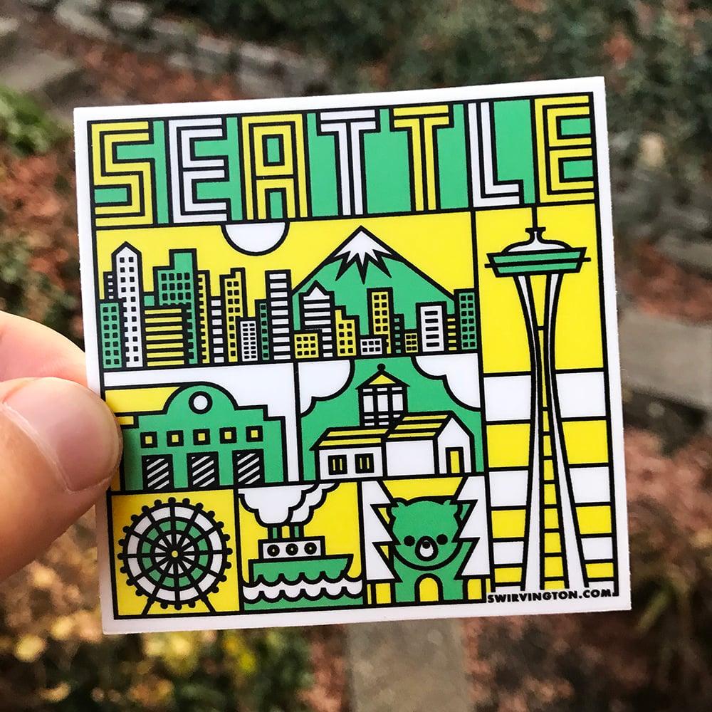 "Image of Seattle 3""x3"" Sticker"