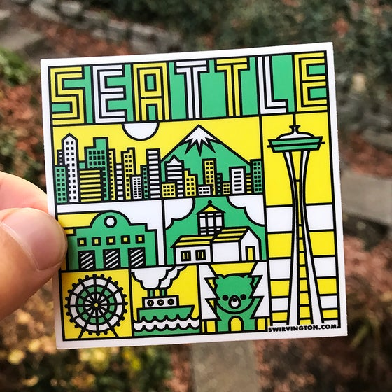"Image of Seattle 3""x3"" Sticker"