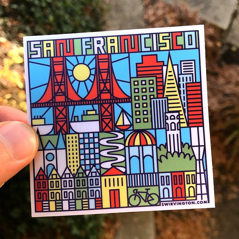 "Image of San Francisco 3"" x 3"" Sticker"
