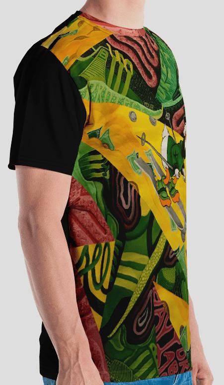 Image of Work $marter Mc. Buck$ Full Bodied Print Shirt
