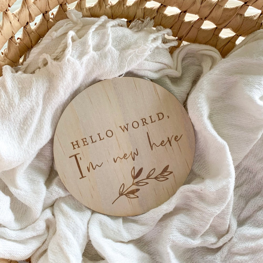 Image of Hello world | Announcement plaque