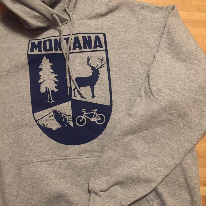 Image of New! Montana Crest Pullover Hoodie