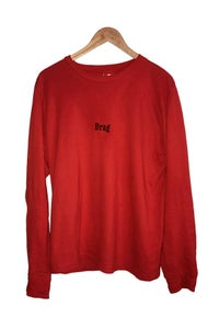 Image of DRAG MARLBORO EMBROIDERED TEE <br> RED
