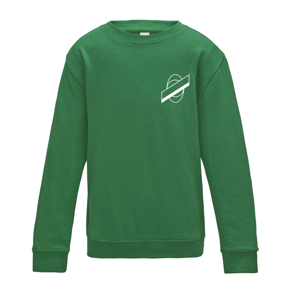 Image of Planet Saturn Classic Logo – Kelly Green Jumper