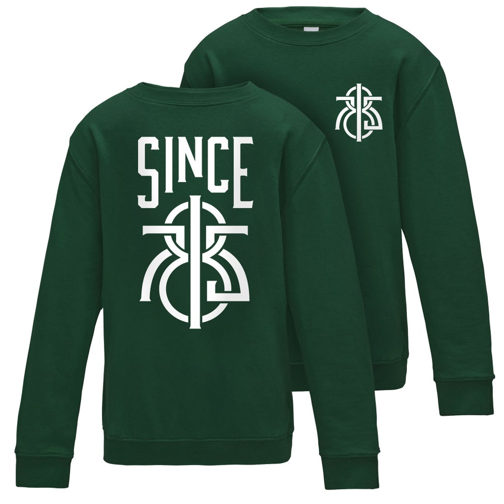 Image of  1875 Front and Back – Bottle Green Jumper
