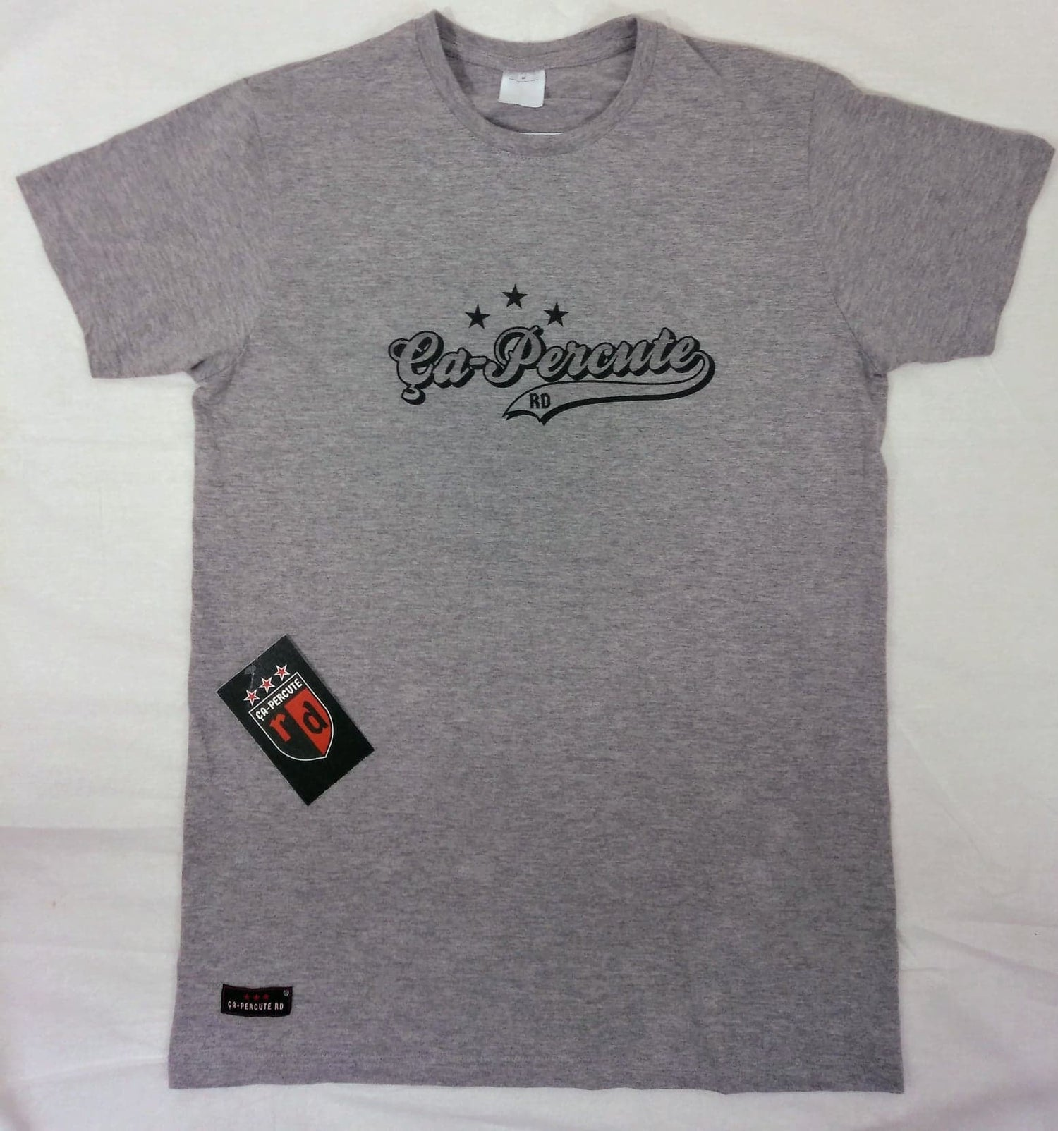 Image of Tee-shirt gris homme Ça-Percute Rd TAG