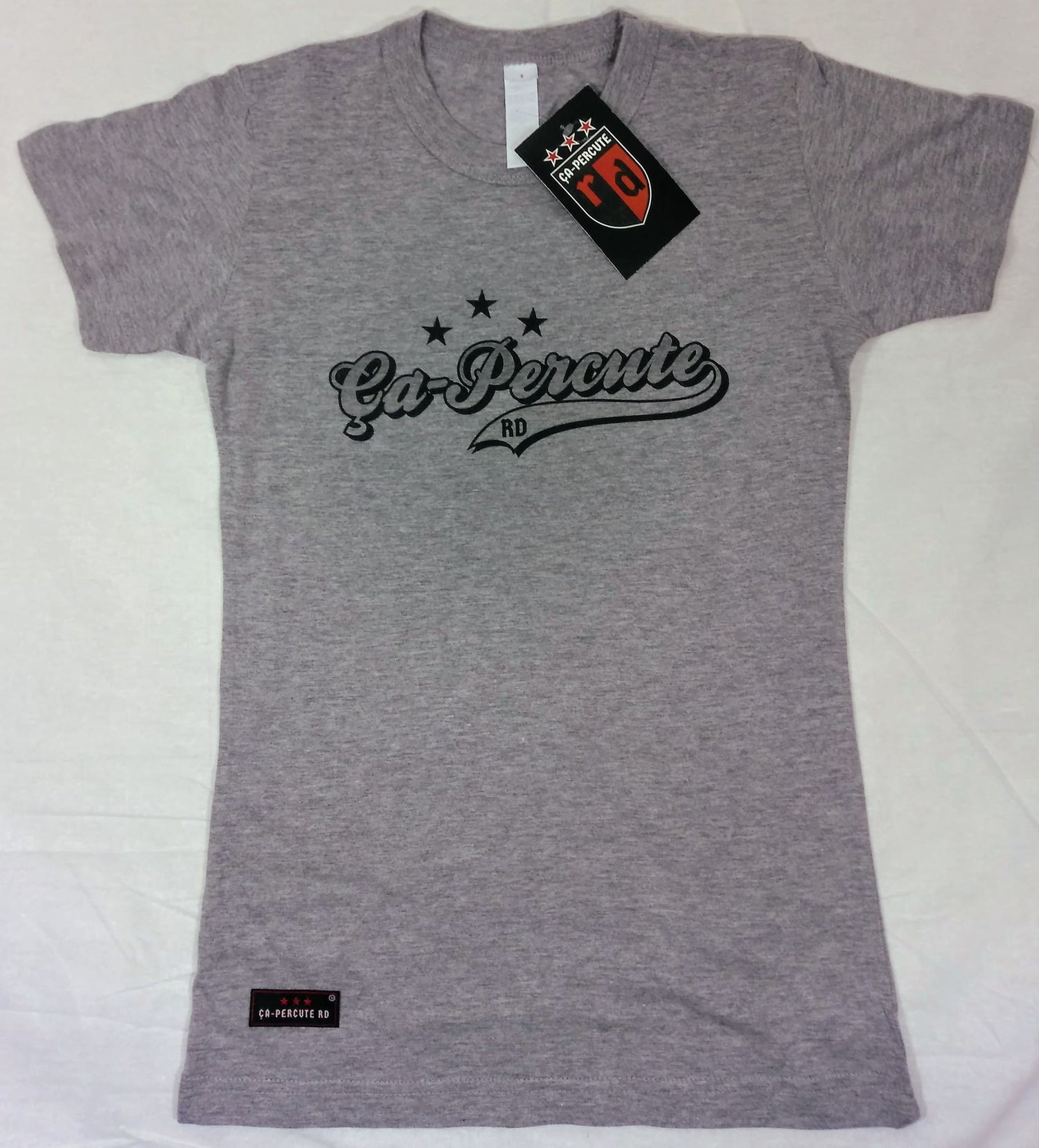 Image of Tee-shirt gris femme Ça-Percute Rd TAG