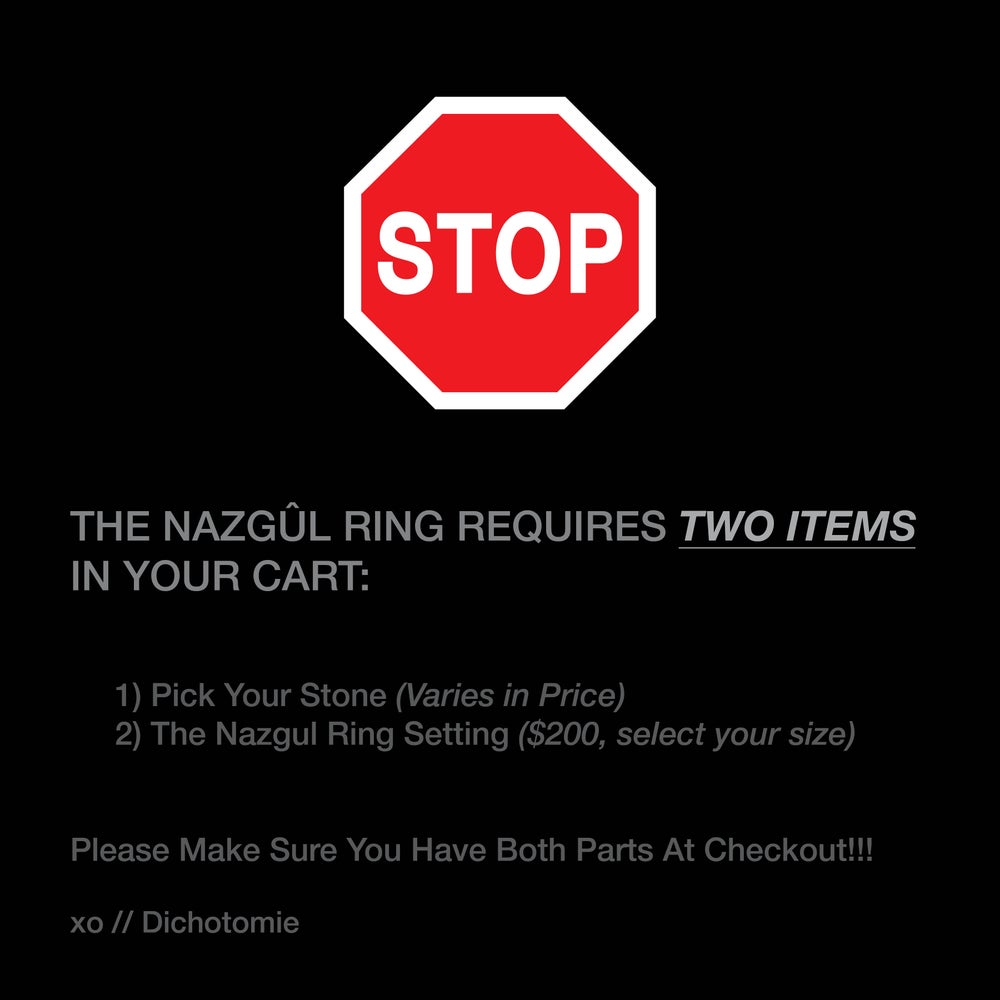 Image of The Nazgûl Ring (Stones Only)