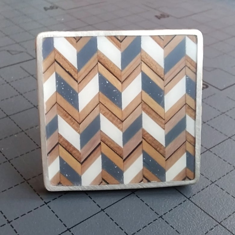 Image of Op Art Zigzag  Brooch