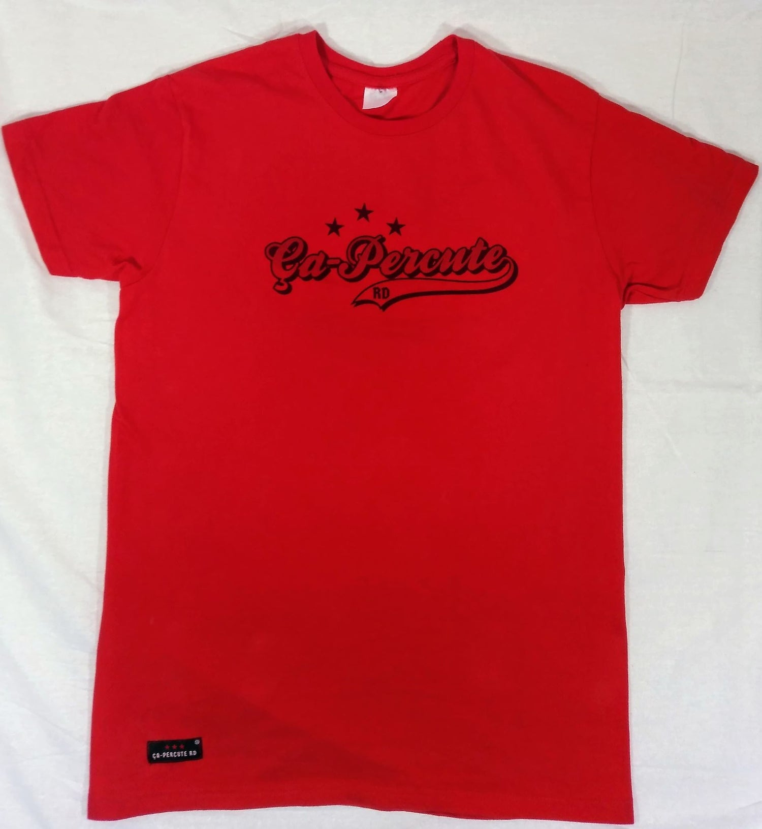 Image of Tee-shirt rouge homme Ça-Percute Rd TAG