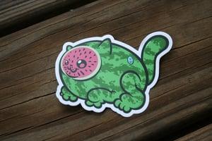 Image of Watermelon Kitten Sticker