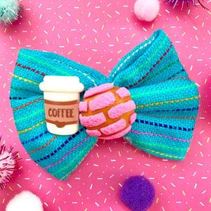 Concha/Coffee Hair Bow