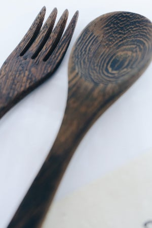 Image of Sustainable cutlery set with 2 straws