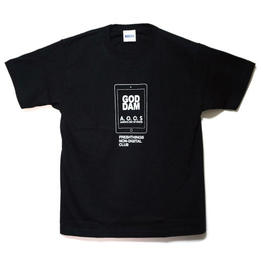 "Image of x A.O.O.S ""GOD DAM"" TEE"