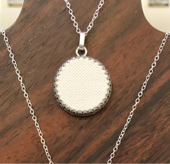 Image of Full Moon Aromatic Pendant Necklace