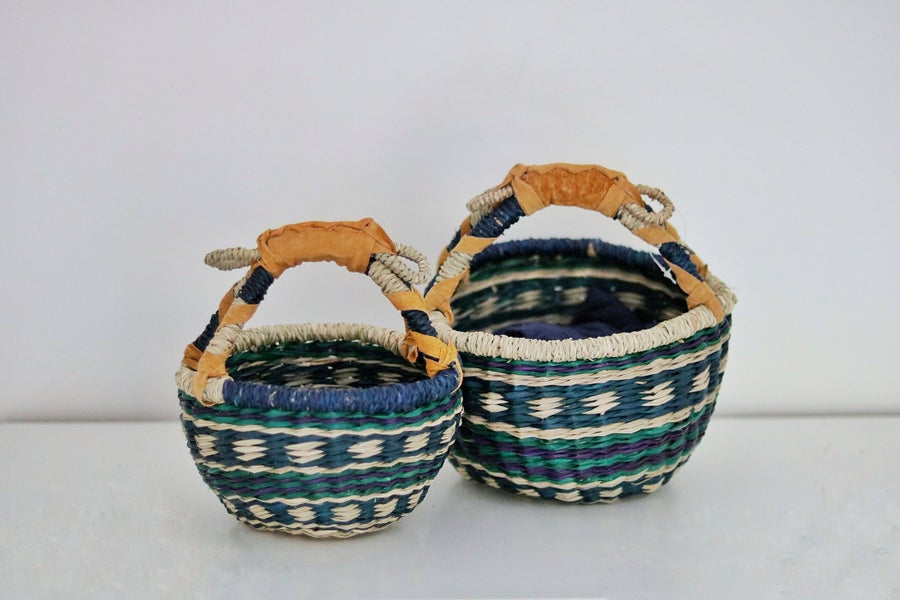 Image of Mini market baskets - tri-colour