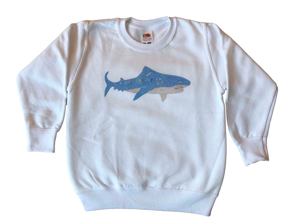 Image of KMAdotcom Nicholas' shark sweatshirt (white)