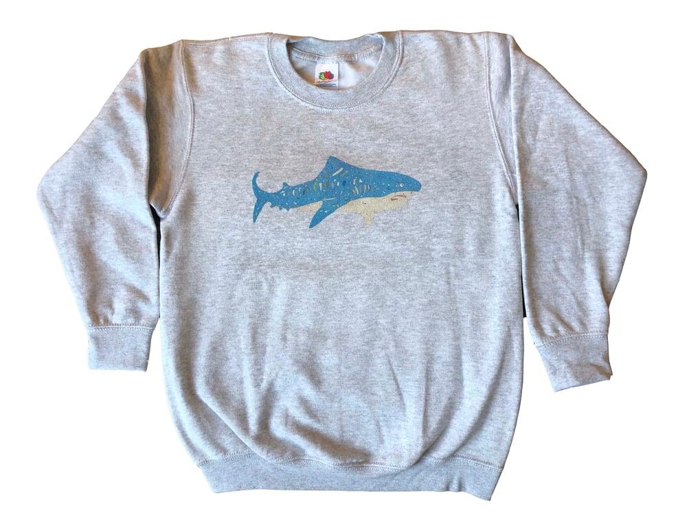 Image of KMAdotcom Nicholas' shark sweatshirt (grey)