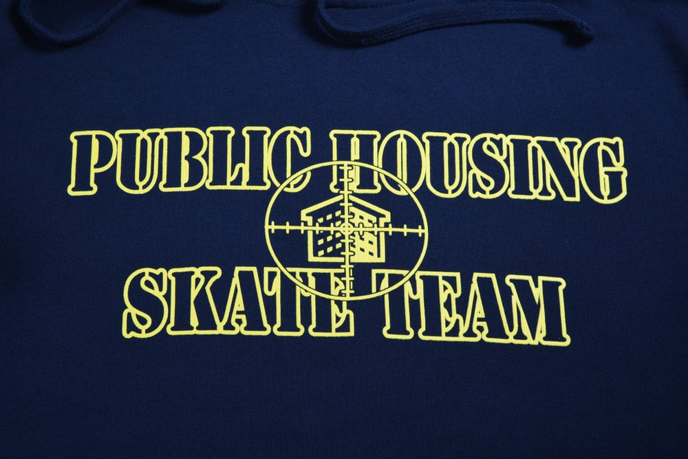 Image of PHST LOGO HOODIE (NAVY BLUE AND YELLOW )