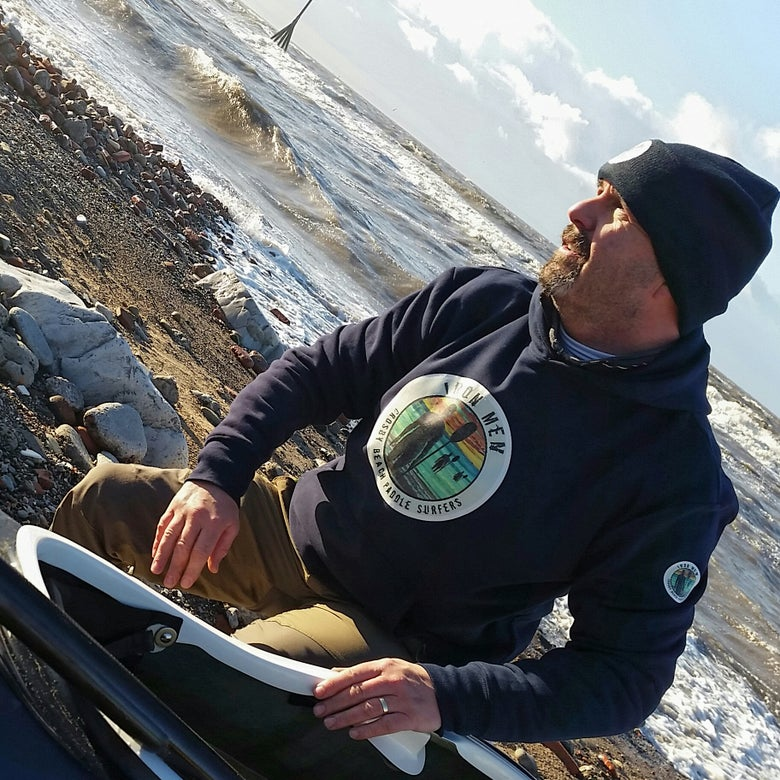 Image of Crosby Beach Paddle Surfers Hooded Top