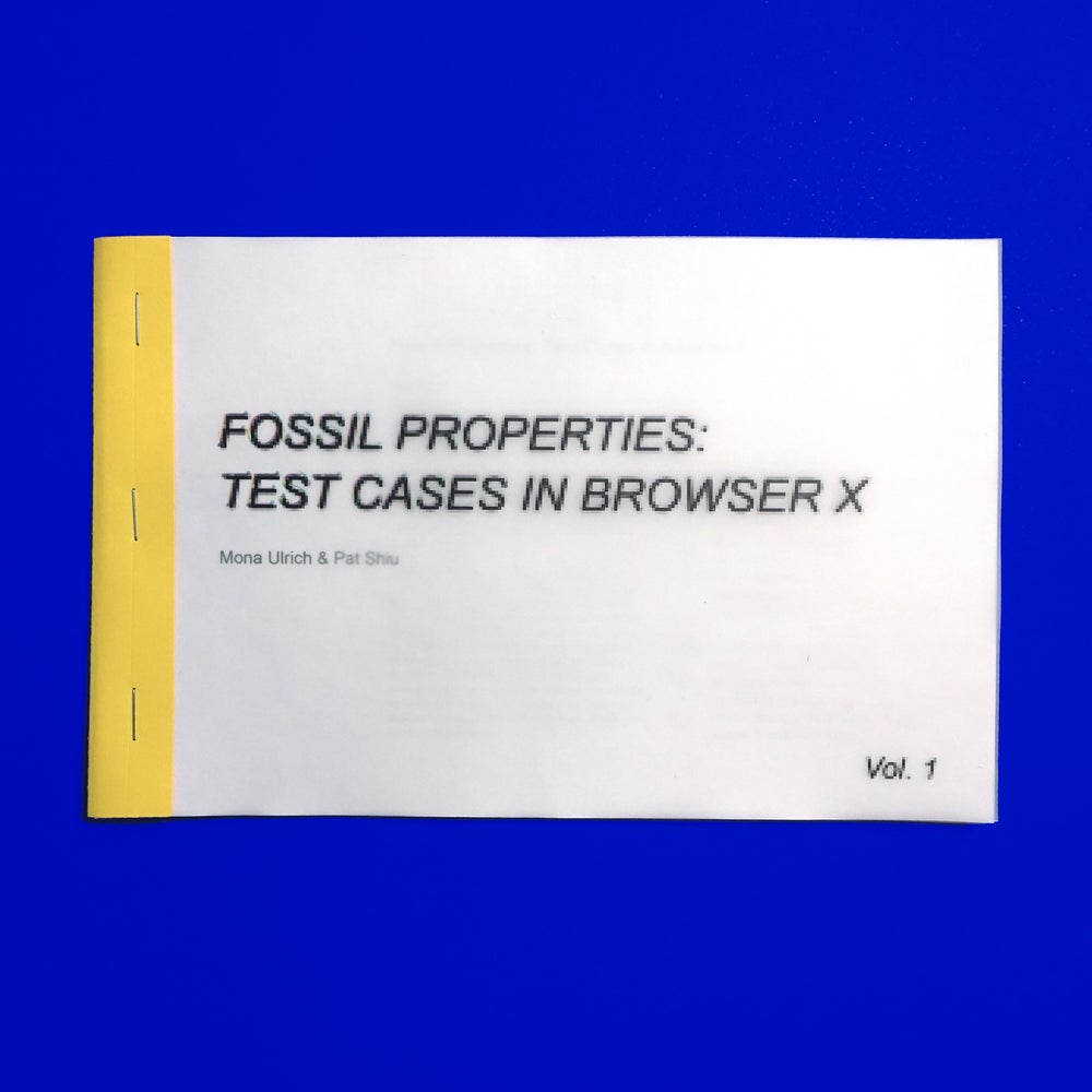 Image of Fossil Properties: Test Cases in Browser X